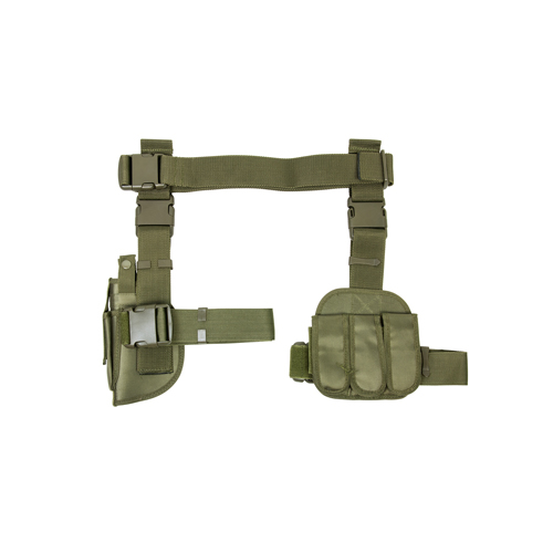 NcStar NcStar 3 Piece Drop Leg Holster/Mag Holder Green CV2908G