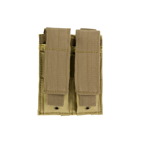 NcStar Double Pistol Mag Pouch Tan