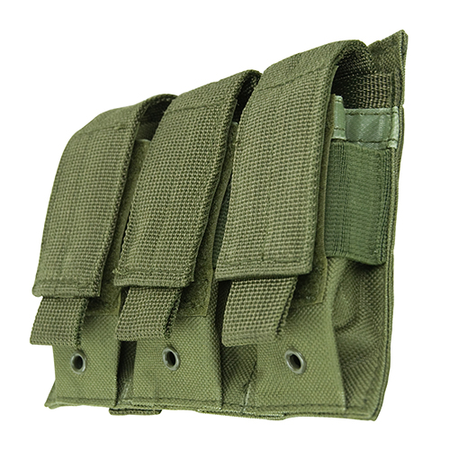 NcStar Triple Pistol Mag Pouch Green