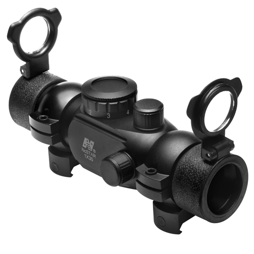 NcStar NcStar T-Style Red Dot Sight 1x30, Weaver Rings DTB130