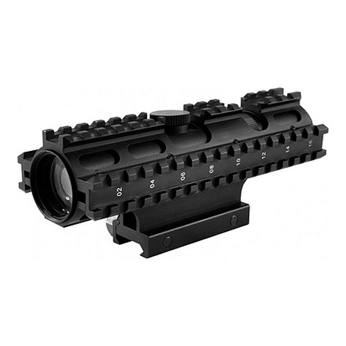 NcStar Tactical 3-Rail Sighting System 2-7x32/Mil-Dot/GN/Weaver Moun
