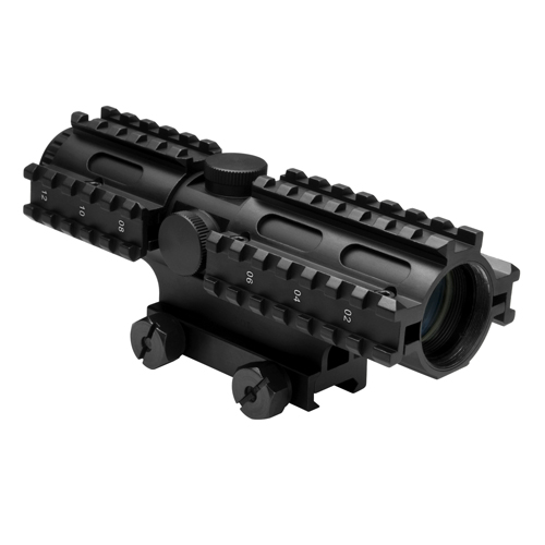 NcStar NcStar Tactical 3-Rail Sighting System 4x32/Mil-Dot/Blue/Weaver Mount SC3RSM432B