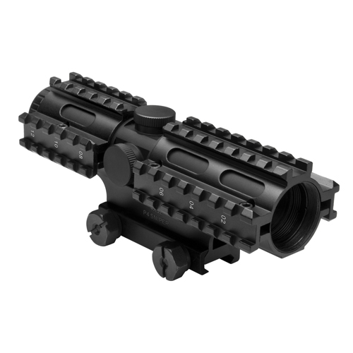 NcStar NcStar Tactical 3-Rail Sighting System 4x32 Compact/P4 Sniper, Blue SC3RSP432B