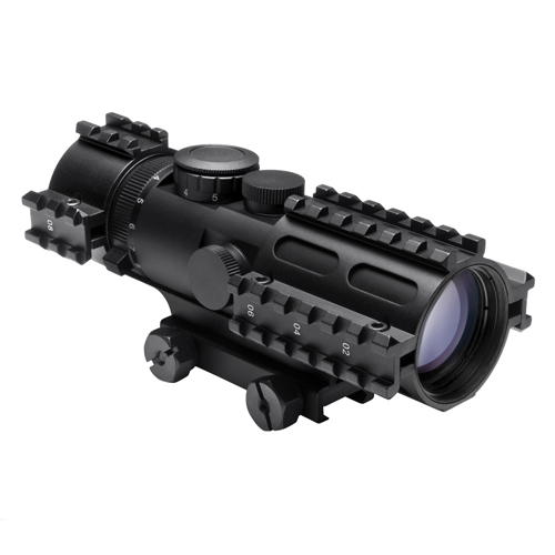 NcStar NcStar Tactical 3-Rail Sighting System 3-9x42/Blue Illuminated Rangfinder/Weaver Mount SEC3RSR3942G