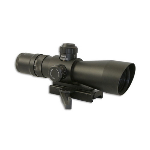 NcStar NcStar Mark III Tactical Series 3-9x42 Compact Red/Green Illuminated Mil-Dot Reticle, Weaver Quick Release Mount STM3942G