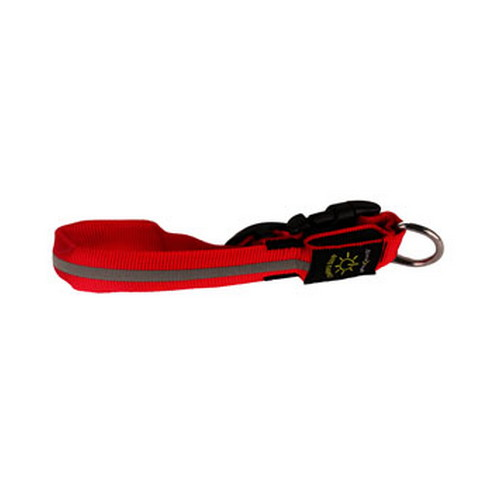Nite Ize Nite Dawg Medium, Red Collar