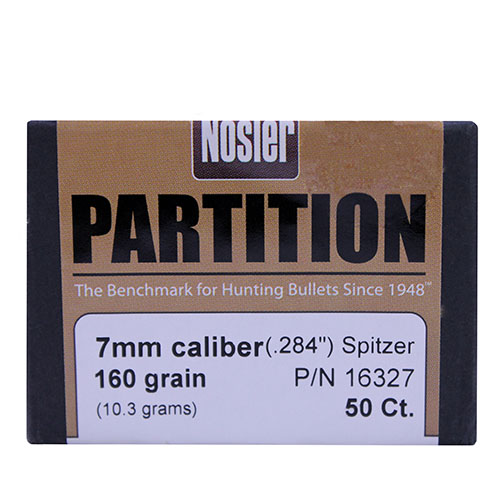 Nosler 7mm 160 Gr Spitzer Partition (Per 50)