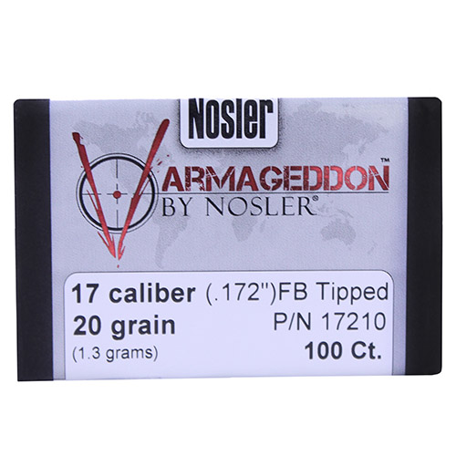 Nosler 6mm 55gr Varmageddon Flat Base Tipped/100