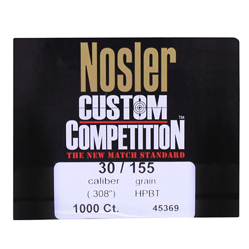 Nosler 30 Caliber 155gr Custom Competition HPBT (Per 1000)