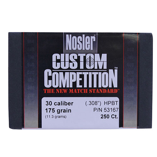 Nosler 30 Caliber 30-175gr Hollow Point Boat Tail Match (Per 250)