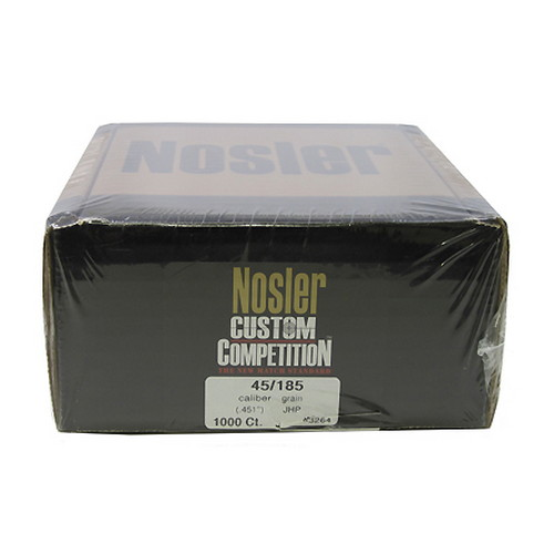 Nosler Nosler 45 Caliber 185 gr Custom Competition JHP (Per 1000) 53264