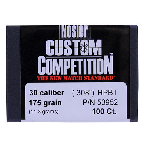 Nosler 30 Caliber 30-175gr Hollow Point Boat Tail Match (Per 100)