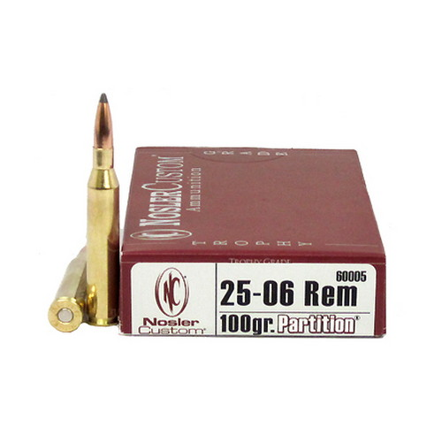 Nosler Trophy 25-06 Remington 100gr Partition (Per 20)