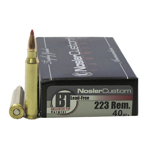 Nosler Nosler 223 Remington, Trophy Ammunition 40gr BT LF 20ct 60007