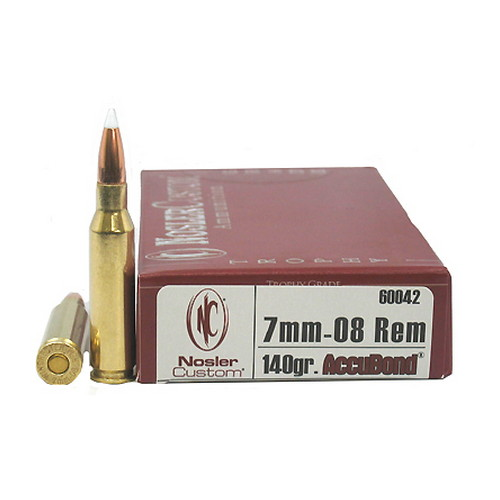 Nosler Nosler Trophy 7mm08 Remington 140gr AB(Per 20) 60042
