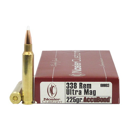 Nosler Nosler Trophy 338 Remington Ultra Magnum 225gr AccuBond (Per 20) 60083
