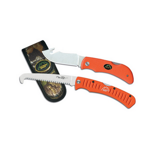 Outdoor Edge Cutlery Corp Outdoor Edge Cutlery Corp Grip Knife Combo (Orange Handles) - Box GHC-1