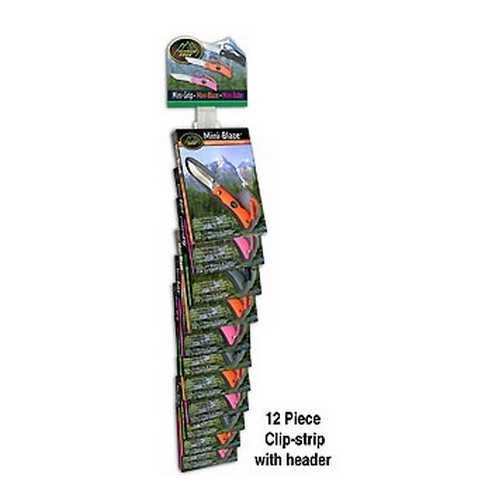 Outdoor Edge Cutlery Corp Outdoor Edge Cutlery Corp 12 Piece Mini-Grip Clip-Strip(Black,Pink,Orange) MG-12CS