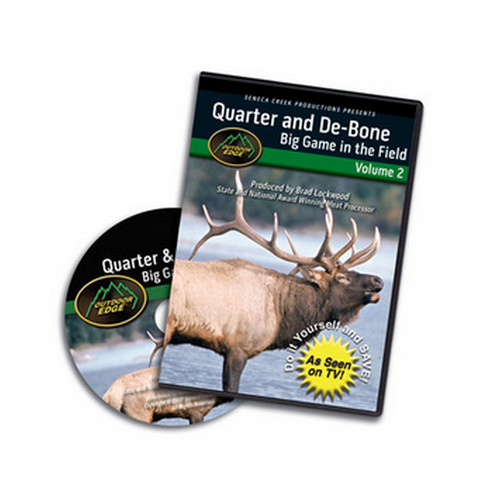 Outdoor Edge Cutlery Corp Outdoor Edge Cutlery Corp DVD Quarter & Debone In Field: Volume 2 QD-101
