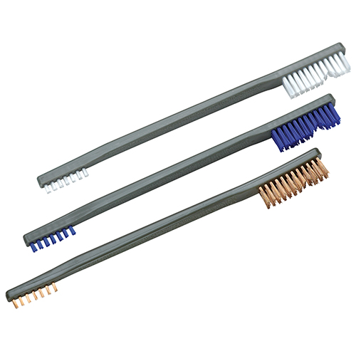 Otis Technologies 3 Pack A/P Brush ( Nylon, Blue Nylon, Bronze)