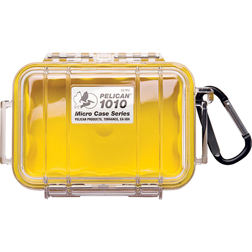 Pelican Pelican Micro Case Clear Top 1010 Yellow 1010-027-100
