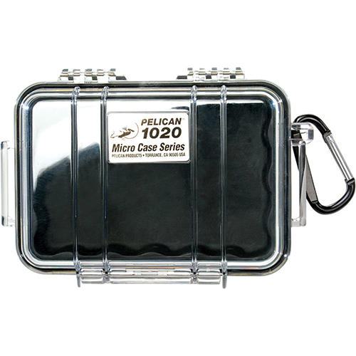 Pelican Micro Case with Clear Top 1020 Black 1020-025-100