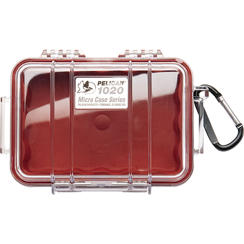 Pelican Micro Case with Clear Top 1020 Red