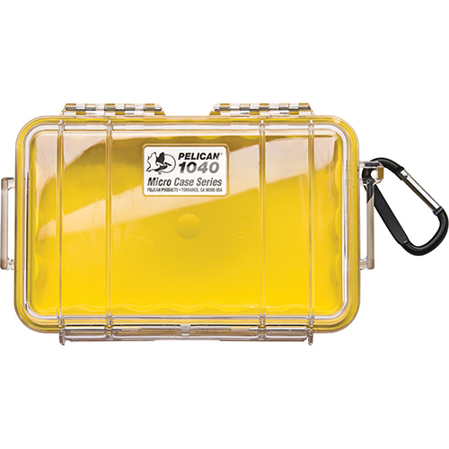 Pelican Pelican MicroCase with Clear Top 1040 Yellow 1040-027-100