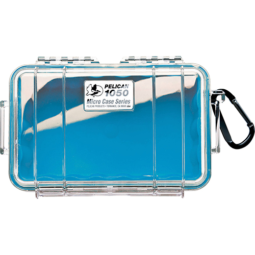 Pelican Pelican MicroCase with Clear Top 1050 Blue 1050-026-100