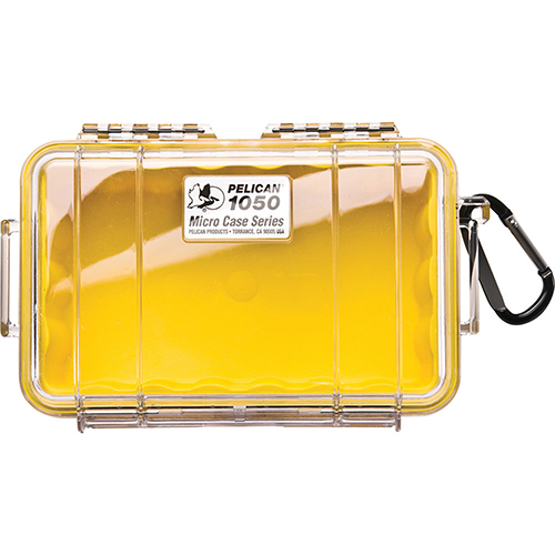 Pelican Pelican MicroCase with Clear Top 1050 Yellow 1050-027-100