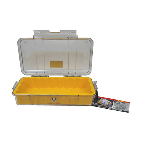 Pelican Pelican MicroCase with Clear Top 1060 Yellow 1060-027-100