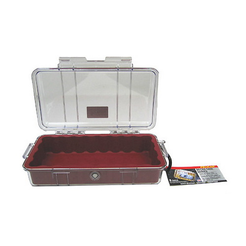 Pelican Pelican MicroCase with Clear Top 1060 Red 1060-028-100