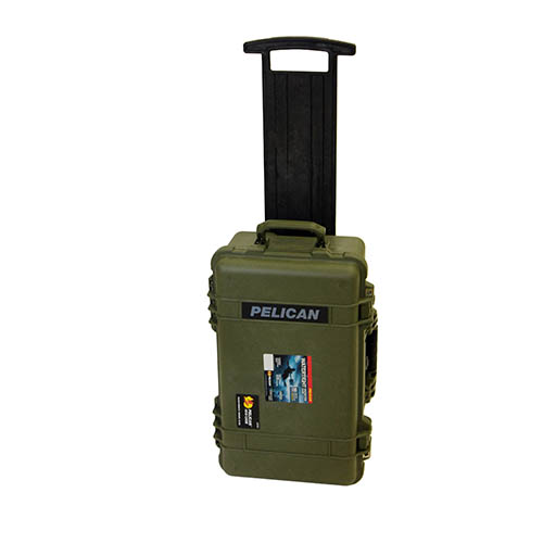 Pelican 1510 Hard Case Wl/Luggage Insert, OD Green