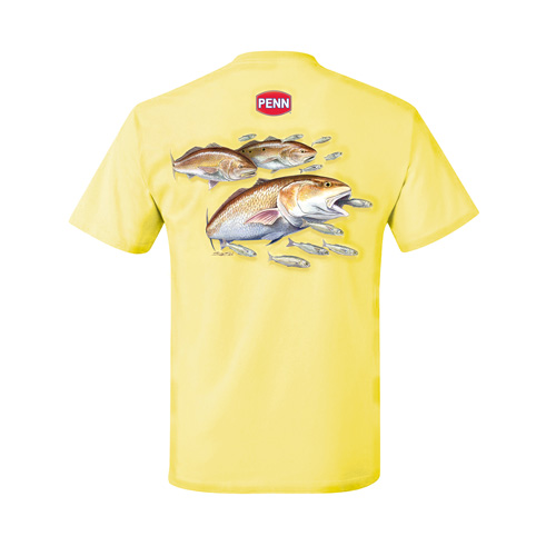 Penn Penn Men's Red Drum Yellow T-Shirt Medium 1290019