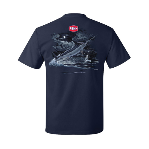 Penn Penn Men's Swordfish Navy T-Shirt Large 1290036