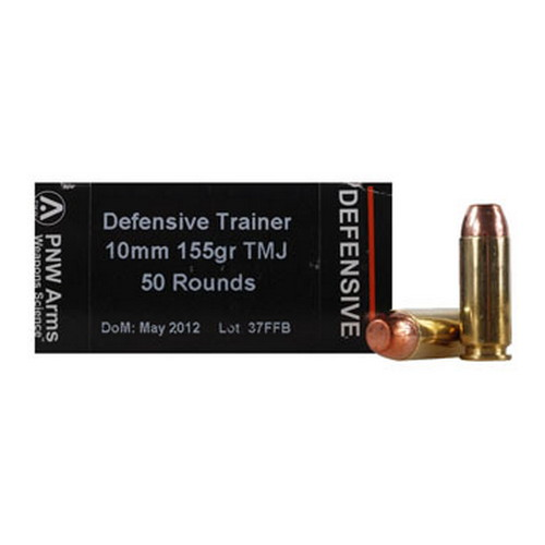 PNW Arms PNW Arms Defensive Trainer Ammunition 10mm, 155 Gr, TMJ (Per 50) 10MMDTR155TMJ50
