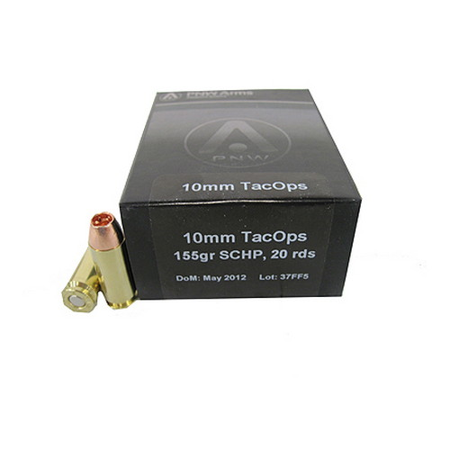 PNW Arms PNW Arms TacOps Ammunition 10mm 155 Gr, Solid Copper HP (Per 20) 10MMTAC155SCHP20