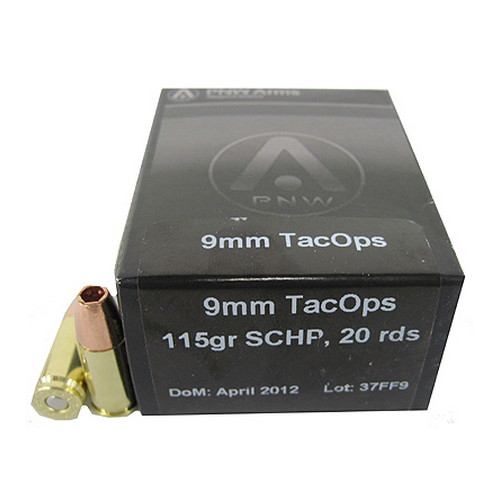 PNW Arms PNW Arms TacOps Ammunition 9mm 115 Gr, Solid Copper HP (Per 20) 9MMTAC115SCHP20