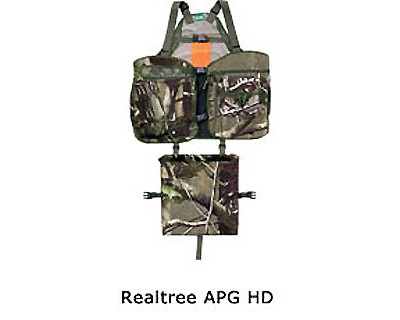 Primos Strap Turkey Vest Medium/Large, Realtree AP HD, Green