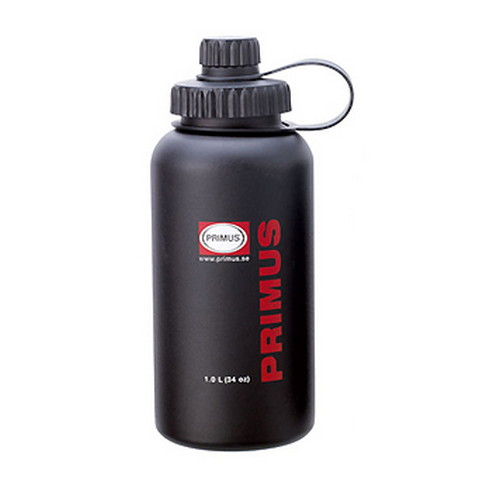 Primus Primus Water Bottle, Wide Mouth Stainless Steel, Black 1.0L P-732811