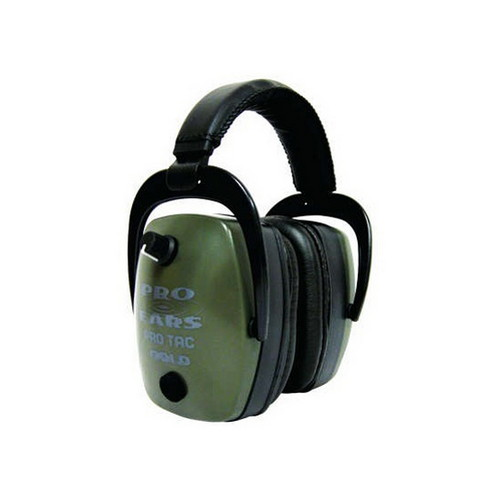 Pro Ears Pro Ears Pro Tac Mag Gold NRR 30 Lithium 123 Battery, Green GS-PTM-L-G