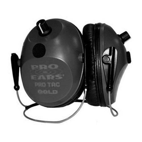Pro Ears Pro Ears Pro Tac Plus Gold Black, Behind the Head, Lithium 123 Battery GS-PT300-L-B-BH