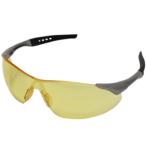 Radians Radians Rock Glasses Anti-Fog, Amber Lens/Silver Frame RK6-41CS