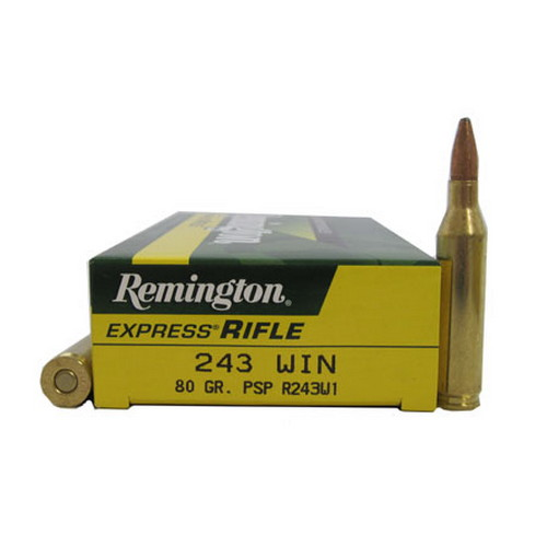 Remington Remington Corelokt Ammunition 243 Winchester 80 Gr Per 20 R243W1