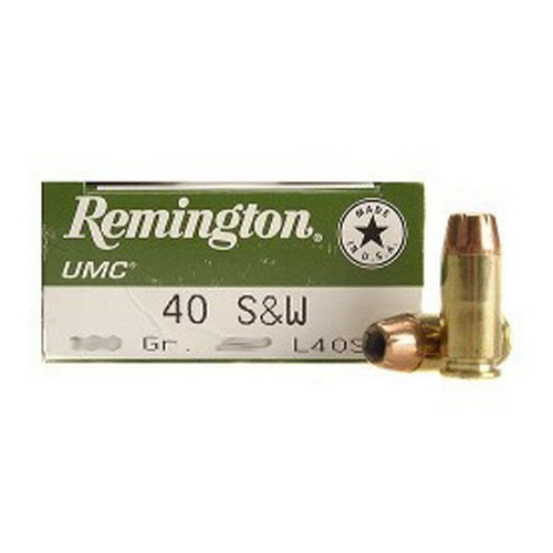 Remington Remington UMC 40 S&W 165 Gr MC (Per 50) L40SW4