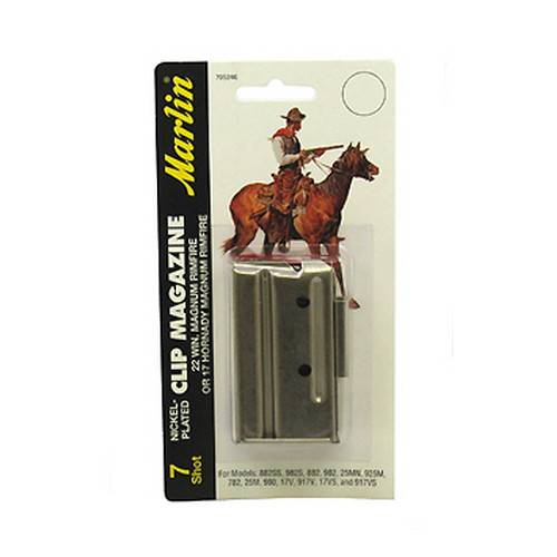 Remington Accessories Remington Accessories Marlin 7-Shot For All 22 Magnum Bolt Action (Nickel-Plated), or 17 HMR 71922