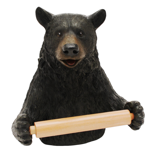 Rivers Edge Products Toilet Paper Holder Cute Bear