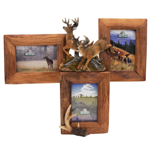 Rivers Edge Products Picture Frame 3 Picture, Deer, Firwood