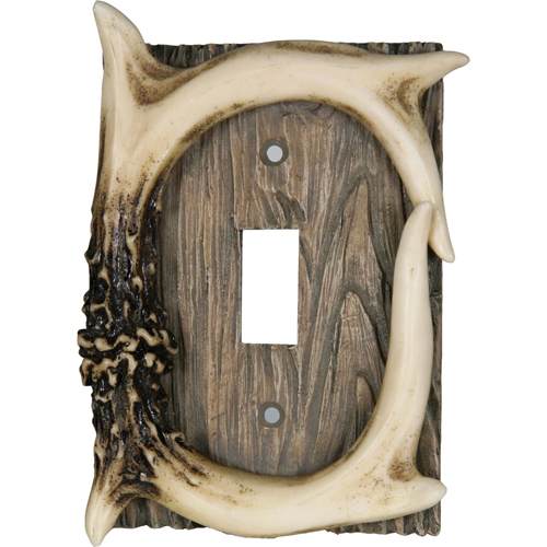 Rivers Edge Products Rivers Edge Products Single Switch Cover Deer Antler 551