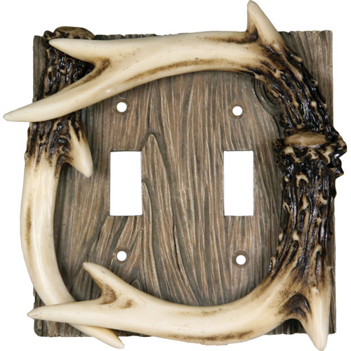 Rivers Edge Products Rivers Edge Products Double Switch Cover Deer Antler 552